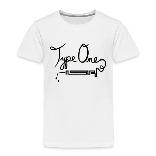 Type One Diabetes - Needle Design - Black - Kids' Premium T-Shirt