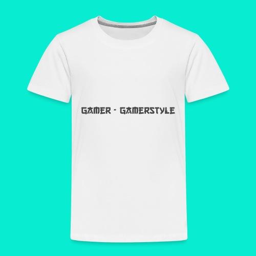 GAMERSTYLE | NICESCHRIFT Schwarz - Kinder Premium T-Shirt