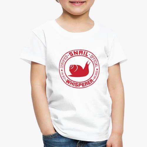 Snail Whisperer Red - Lasten premium t-paita
