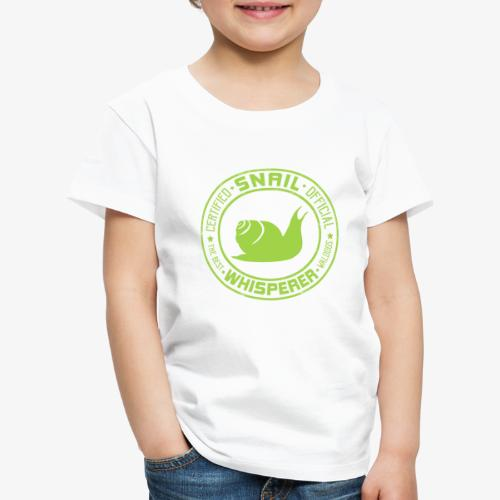 Snail Whisperer Green - Lasten premium t-paita