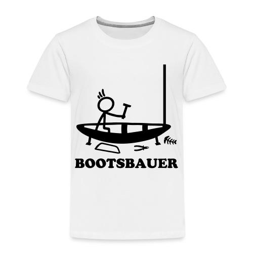 Bootsbauer - Strichmännchen - Kinder Premium T-Shirt