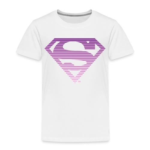 DC Comics Superman Gestreiftes Logo Farbverlauf - Kinder Premium T-Shirt