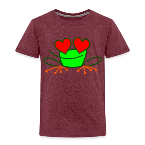 Frog in Love - Kids' Premium T-Shirt