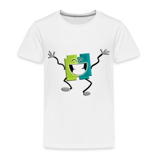 Blij blokje - Kinderen Premium T-shirt