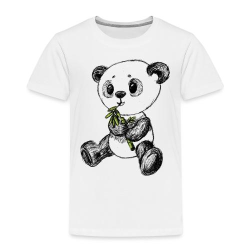 Panda bjørn farvet scribblesirii - Børne premium T-shirt