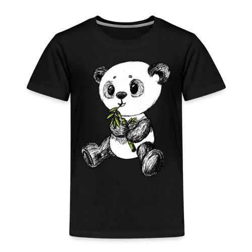 Panda Karhu värillinen scribblesirii - Lasten premium t-paita