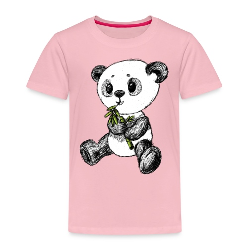 Panda bear colored scribblesirii - Kids' Premium T-Shirt