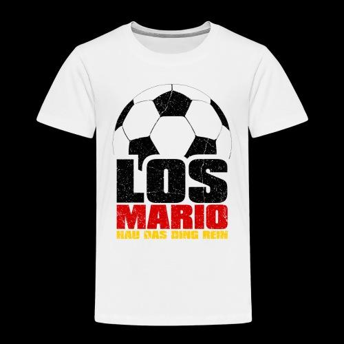 Fußball - Los Mario, hau das Ding rein (3c - Kinder Premium T-Shirt