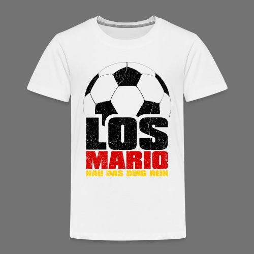 Football - Go Mario, hau moving the thing in (3c - Kids' Premium T-Shirt