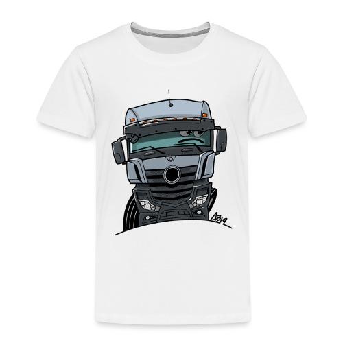 0807 M Truck grijs - Kinderen Premium T-shirt