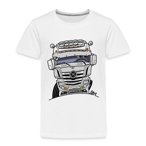 0807 M truck wit - Kinderen Premium T-shirt