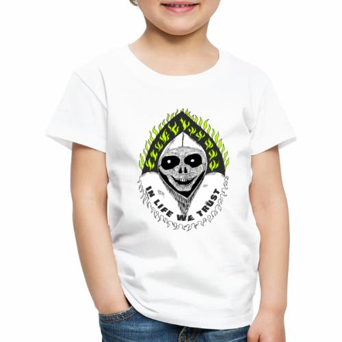 Image of death v2 with text IN LIFE WE TRUST - T-shirt Premium Enfant