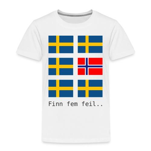 finn fem feil - Premium T-skjorte for barn