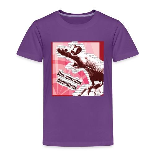 Mus musculus - punainen - Lasten premium t-paita