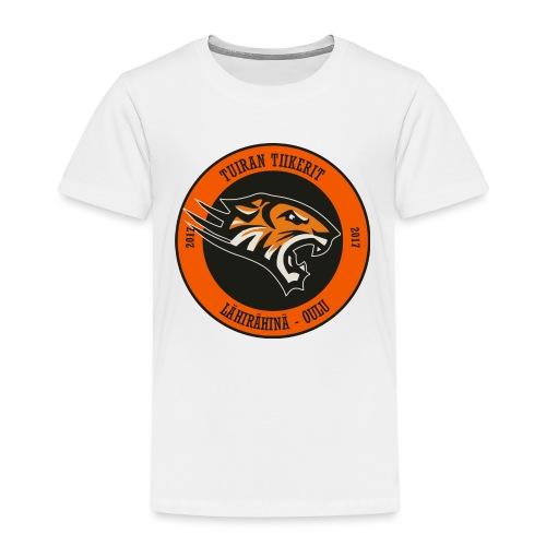 Tuiran Tiikerit, värikäs logo - Lasten premium t-paita