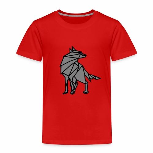 loup geometrique - T-shirt Premium Enfant