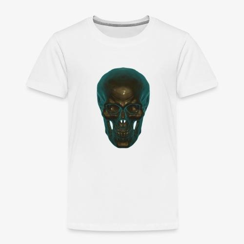 Totenkopf Blau Schwarz - Kinder Premium T-Shirt
