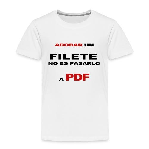 adobar un filete - Camiseta premium niño