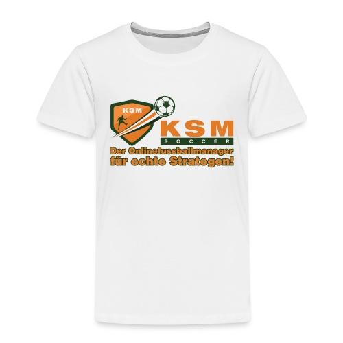 KSM-Soccer Logo groß - Kinder Premium T-Shirt
