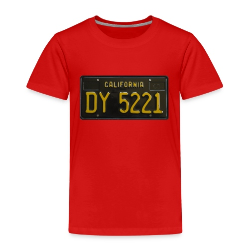 CALIFORNIA BLACK LICENCE PLATE - Kids' Premium T-Shirt