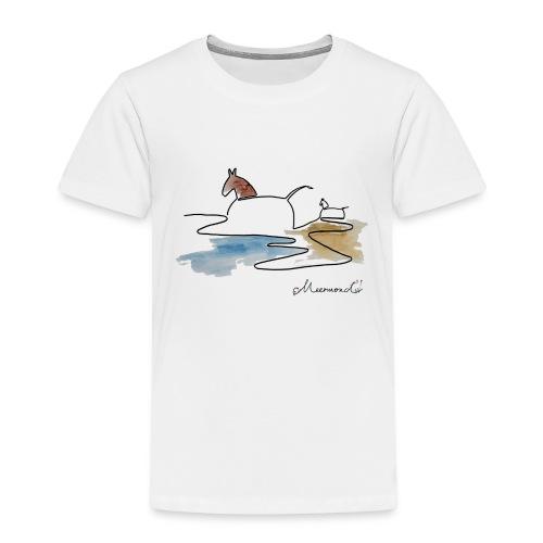 Blåvand 3 - logo - Børne premium T-shirt