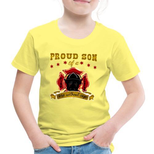 Stolzer Sohn Feuerwehrmann Hero Helden - Kinder Premium T-Shirt