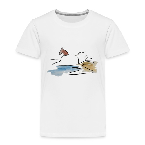 Blåvand 3 - Børne premium T-shirt