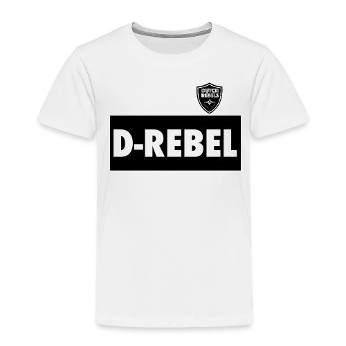 DREBEL SIDE AND STICKER - Kinderen Premium T-shirt