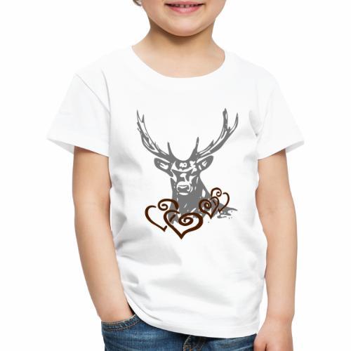 Hirschherz - Kinder Premium T-Shirt