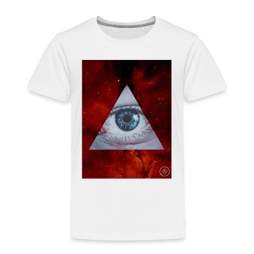 Blue Eyes Red Nebula - Kids' Premium T-Shirt