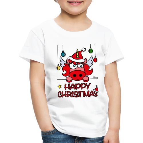 Unicorn Happy Christmas, Licorne Noël - T-shirt Premium Enfant