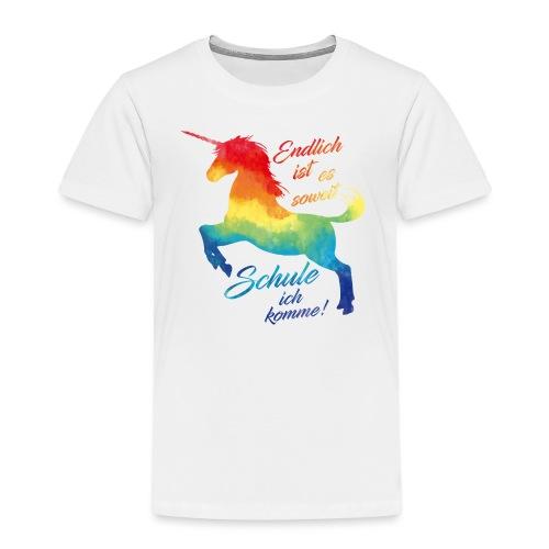 Einhorn_Schule.png - Kinder Premium T-Shirt