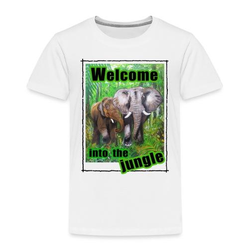 Willkommen im Dschungel - Kinder Premium T-Shirt