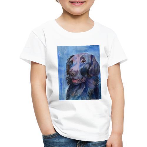 flatcoated retriever - watercolor - Børne premium T-shirt