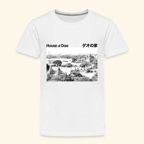 House of Dao - Temple BW - Kinder Premium T-Shirt