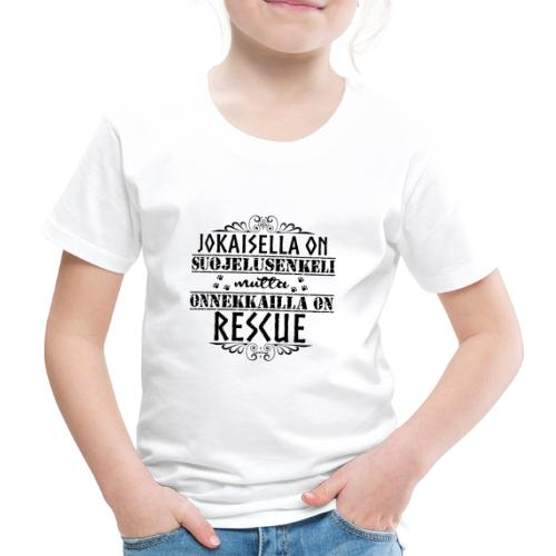 Rescue Enkelini Musta - Lasten premium t-paita