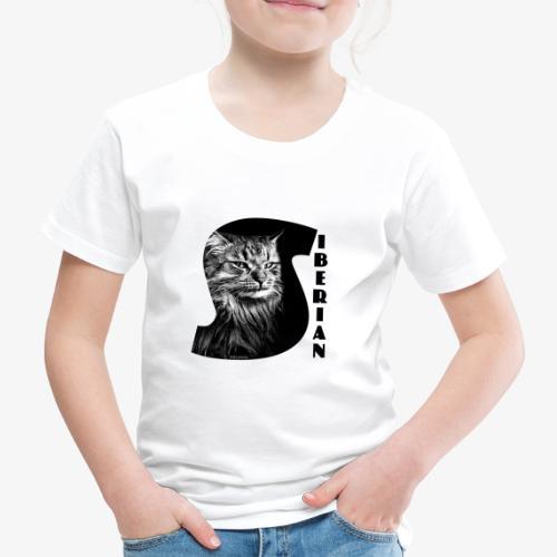 Siberian Cat S - Lasten premium t-paita