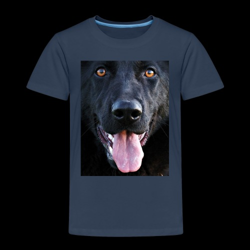 black-german-shepherd-lar - Kids' Premium T-Shirt
