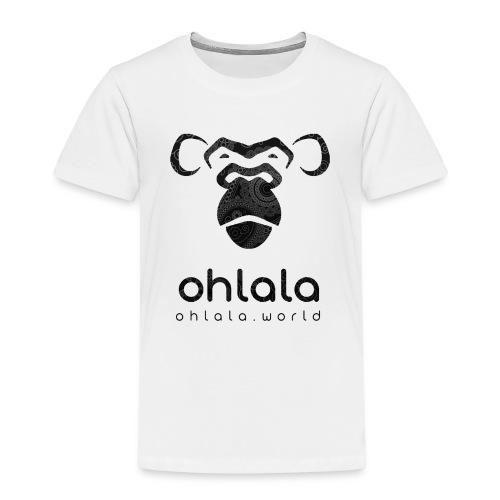 Ohlala Retro SCHWARZ - Kinder Premium T-Shirt