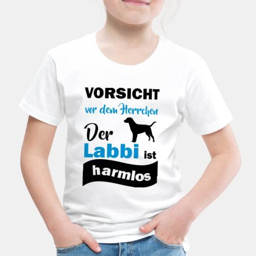 Vorsicht vor dem Herrchen Der Labbi ist harmlos - Kinder Premium T-Shirt
