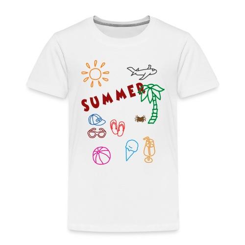 Summer - Lasten premium t-paita