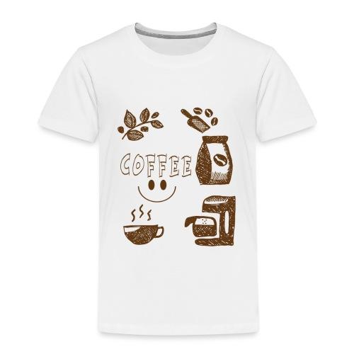 Coffee - Lasten premium t-paita