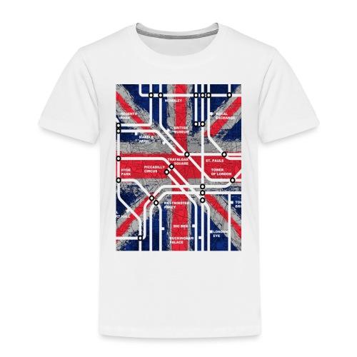 tube map - Kids' Premium T-Shirt