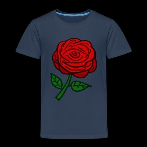 Rote Rose - Kinder Premium T-Shirt