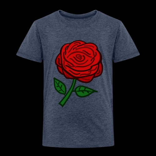 Rote Rose - Kinder Premium T-Shirt