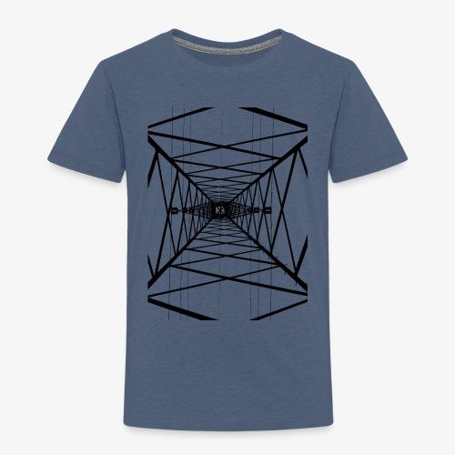 Hochmast V2 Schwarz - Kinder Premium T-Shirt