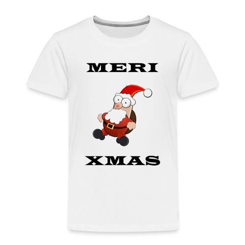 Frohe Weinachten Weihnachtsmann Schwarz - Kinder Premium T-Shirt