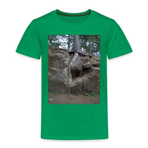 Juuret tukevasti maassa - Lasten premium t-paita