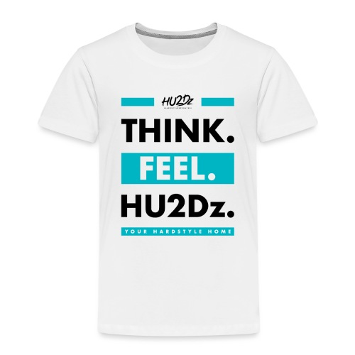THINK FEEL HU2Dz Black White Shirt - Kinderen Premium T-shirt