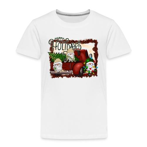 happy holidays gnomes Christmas Truck - Kids' Premium T-Shirt